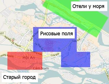 Карта отелей Хойана
