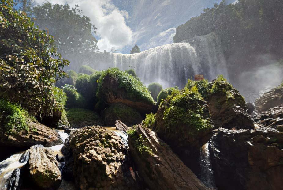 Слоновий водопад, Далат. Как добраться и точка на карте