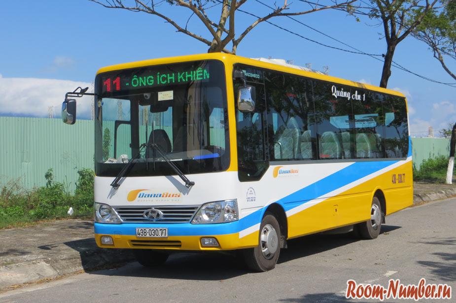 Автобусы в Дананге. Схема маршрутов общественного транспорта