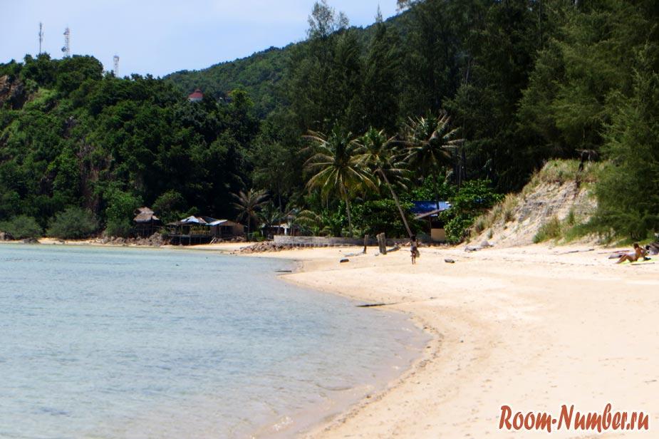 дикий пляж на пангане