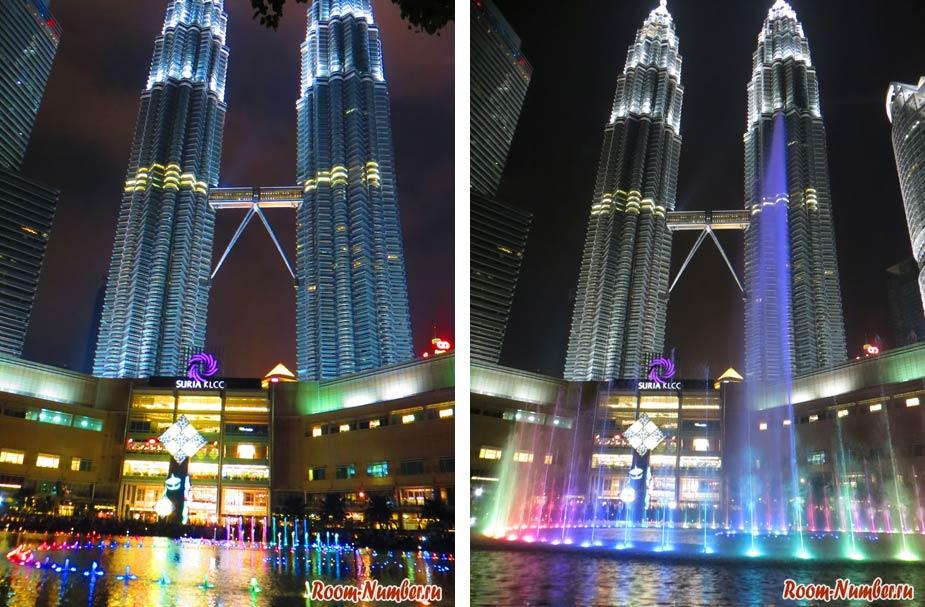 поющие фонтаны куала лумпур башни петронас фото