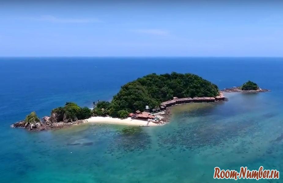 Остров Gemia, Малайзия. Частный остров с одним отелем — Gem Island Resort & Spa