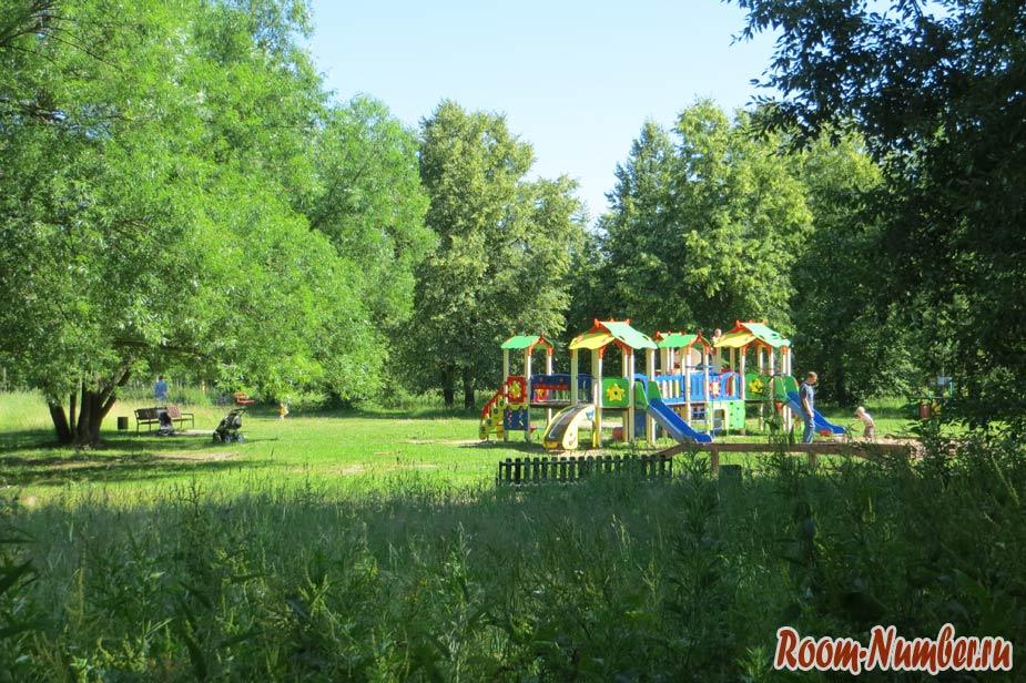 детские площадки в лесу