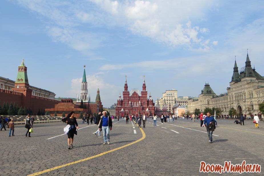 Красная площадь вид на Исторический музей