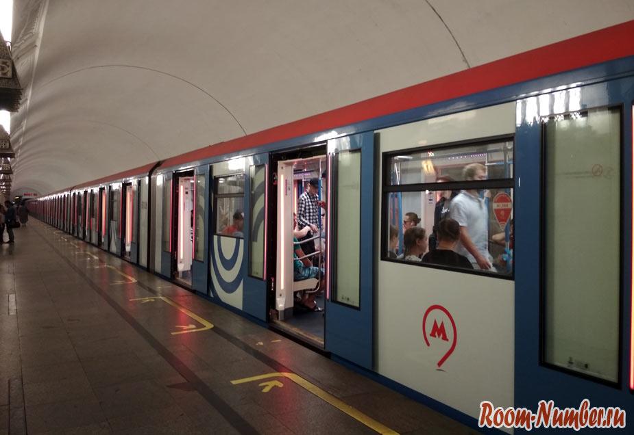 Новые вагоны метро в Москве. Мини фотоотчёт