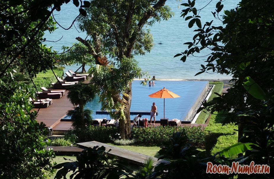 Пляж отеля Plub Pla Koh Mak Retreat на Ко Маке с видовым бассейном