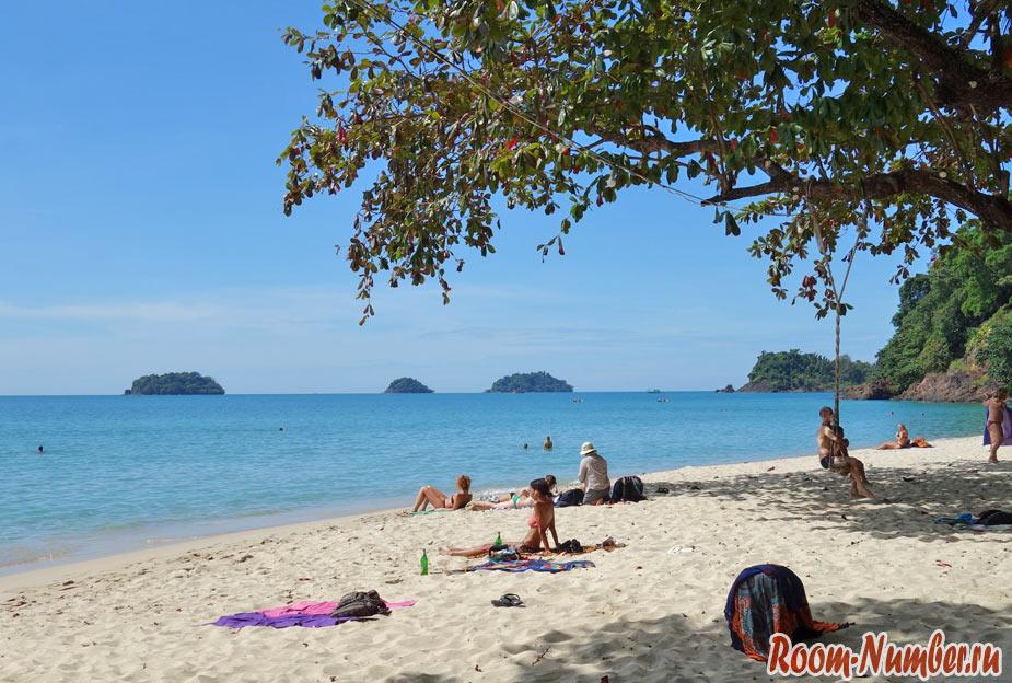 Пляжи Ко Чанг. Все пляжи острова Чанг с отелями и точками на карте