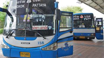 автобус pattaya bangkok на северном автовокзале паттайи