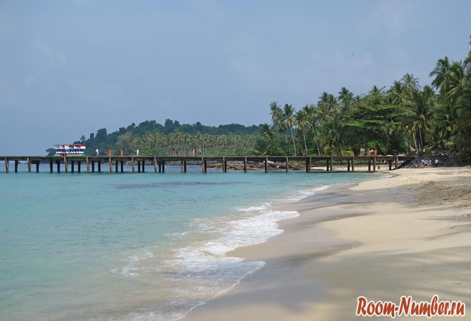 Пляжи Ко Куд с отелями и точками на карте