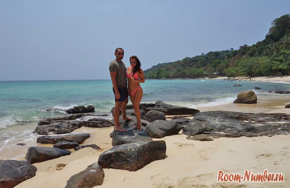 Пляж Ao Ta Khian и отель Cham's House Koh Kood Resort. Пляж с самой голубой водой на Ко Куде