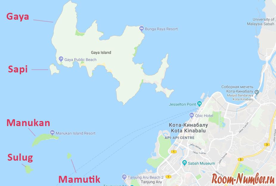 ostrova-kota-kinabalu-karta