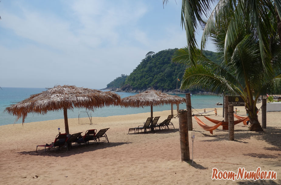 Пляж Juara beach на острове Тиоман