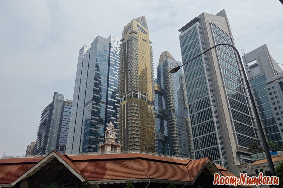 Деловой квартал Singapore city