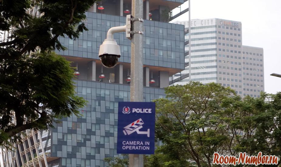 камера видеонаблюдения полиции в сингапуре