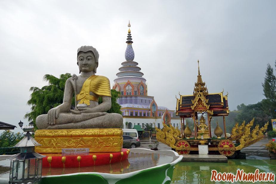 Город Тхатон в Таиланде и смотровая площадка в храме Wat Tha Ton