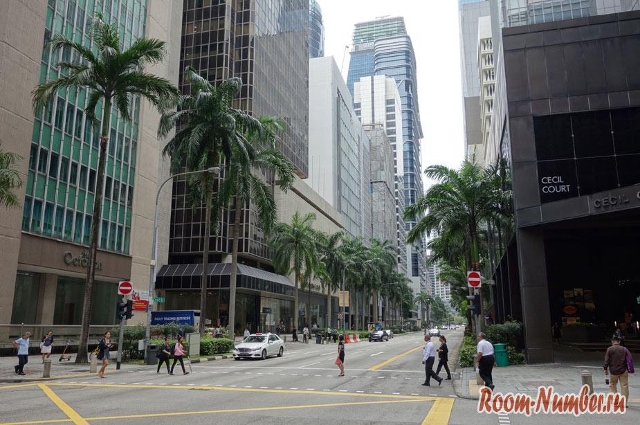 Небоскребы Сингапура. Фото делового центра, где крутятся деньги