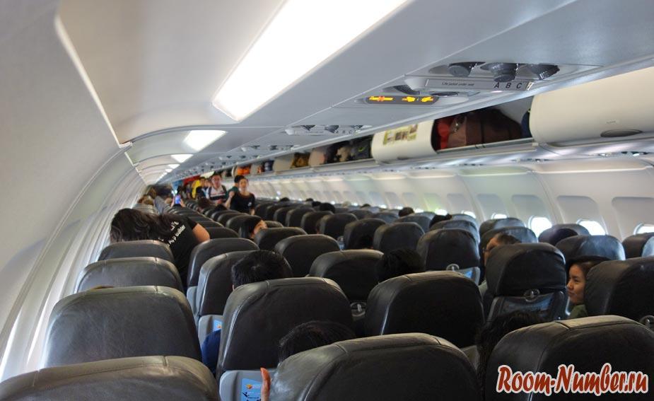 Салон самолета jetstar airways