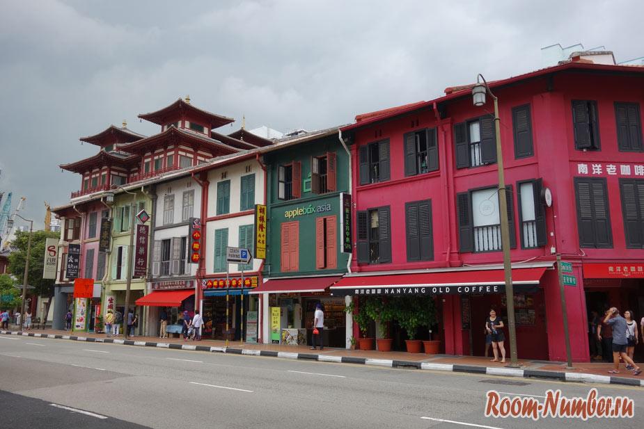 Чайна таун или китайский квартал в Сингапуре