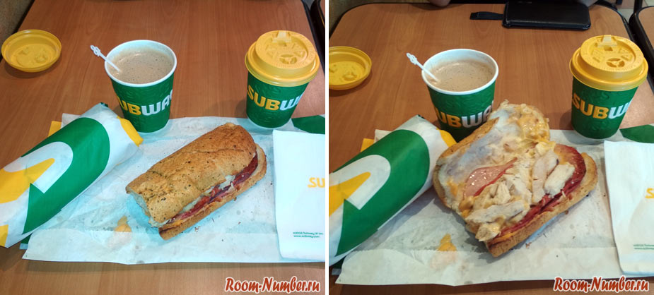 Еда в Subway Langkawi