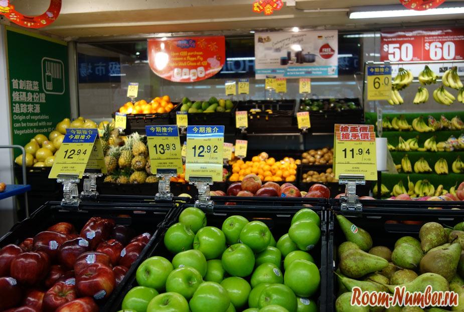 Цены на продукты в Гонконге в 2019