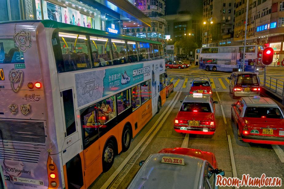 Автобусы и такси в Гонконге из аэропорта работают даже ночью