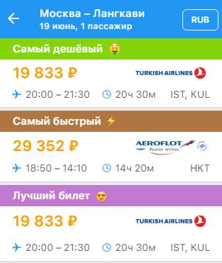 Авиабилеты на langkawi из Москвы