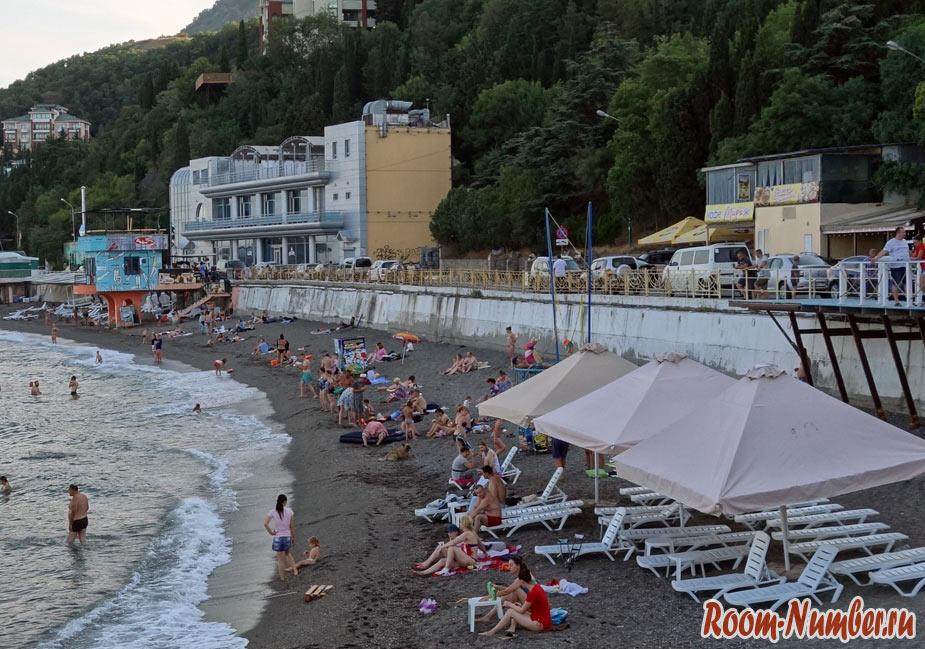 пляж профессорский уголок