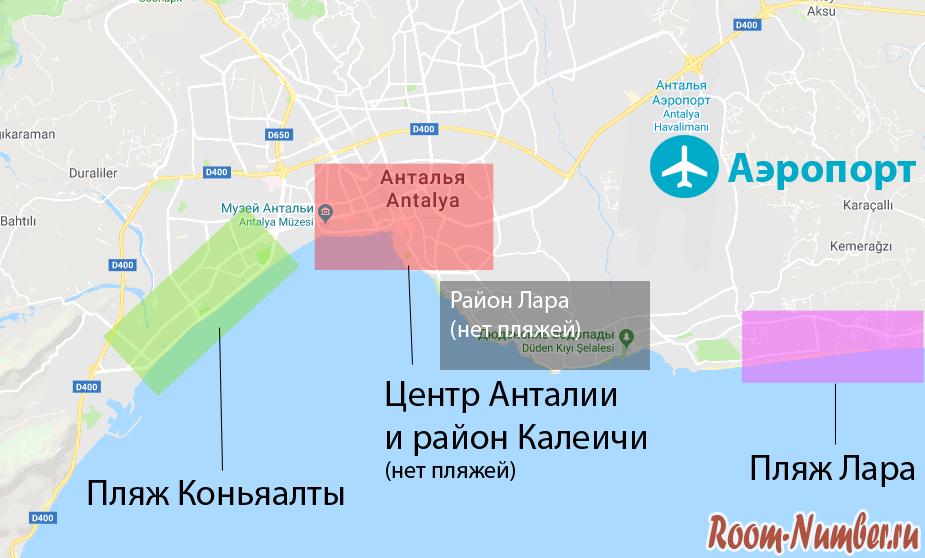 Antalya-map