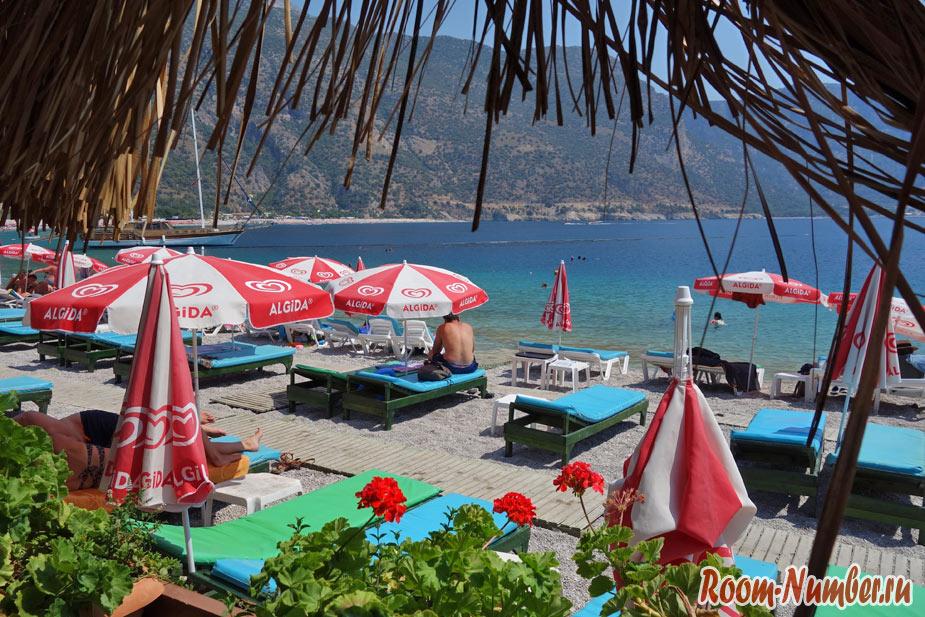 Олюдениз, Турция. Пляж с песчаной косой, лагуна и парапланы