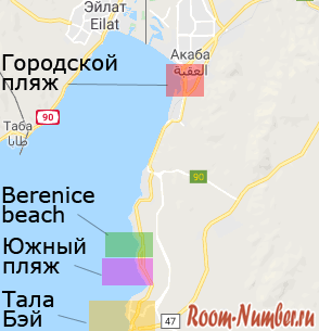 aqaba-beach-map