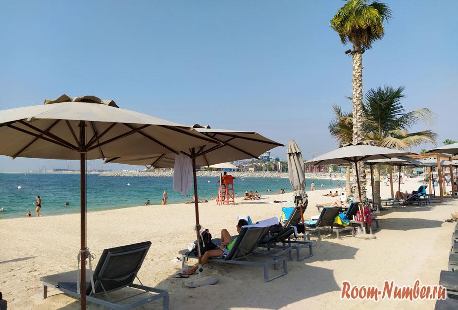 Все пляжи в Дубае с отелями и точками на карте