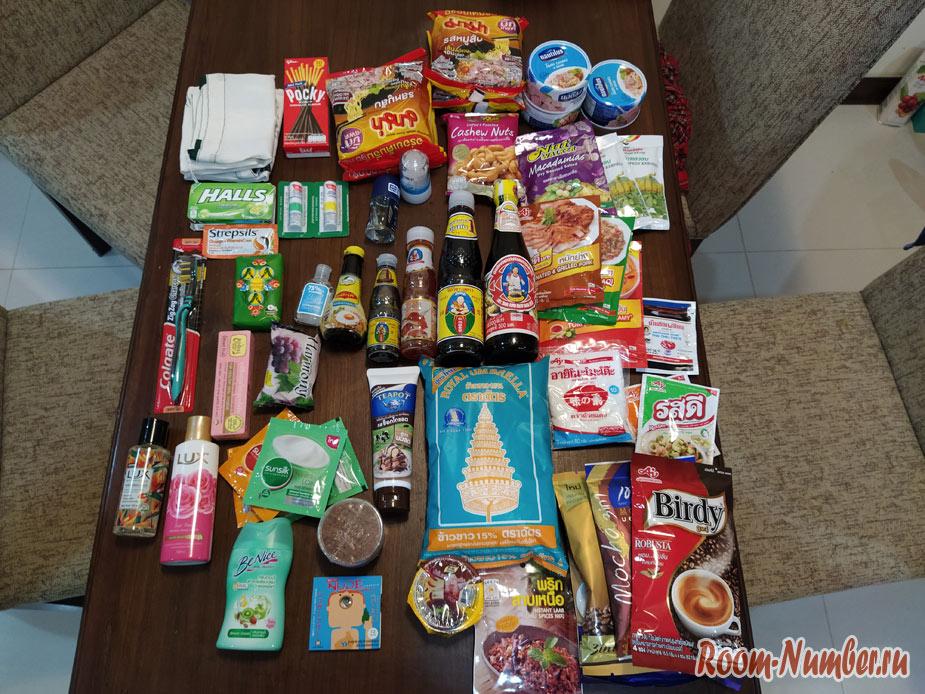 Какие продукты мы привезли из Таиланда. Ни одной корзинки с фруктами