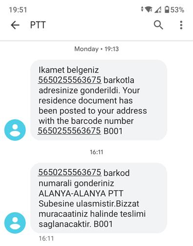 ikamet-sms